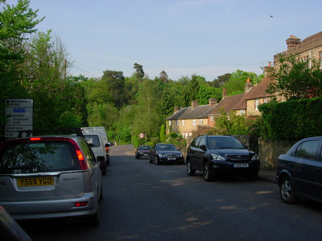 Limpsfield - looking towards the A25