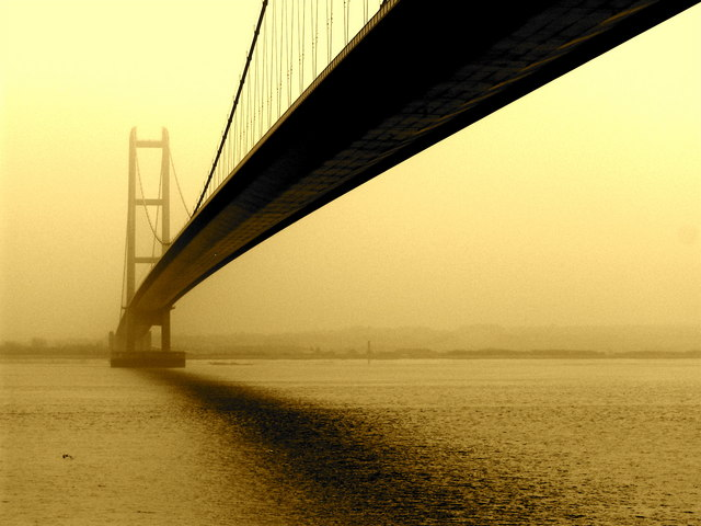 Humber Bridge: a view from the north side