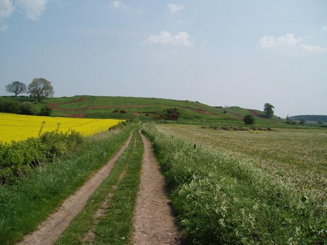 Track leading to Motocross near Bevercotes, Nottinghamshire