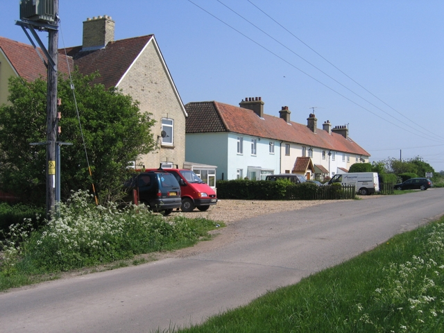 Brickworks Cottages on Little Fen Drove, Burwell, Cambs