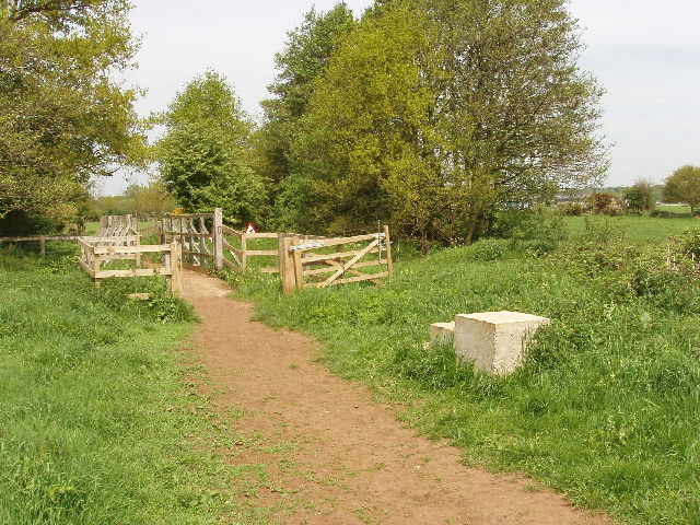 Bridleway bridge over the River Bourne