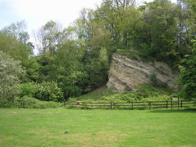 Ragstone outcrop, Dryhill Nature Reserve, Kent