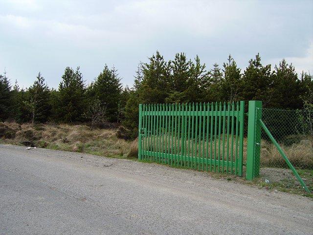 Gate, Leven's Seat landfill.