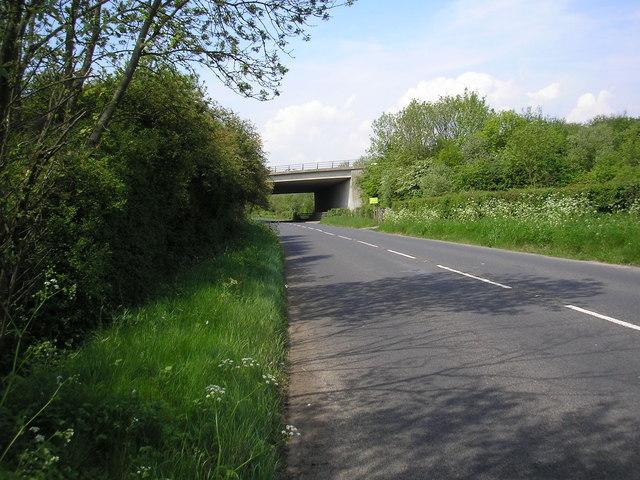 M25 bridge over B2024 (Croydon Road), Westerham