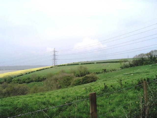 Pylon on Tegdown Hill, near East Meon