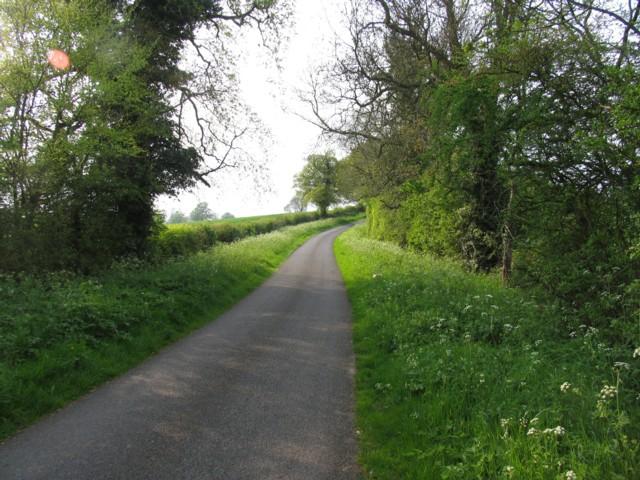 Glaston Road towards Preston
