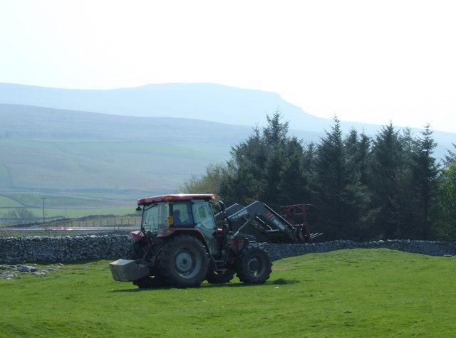Farming above Selside