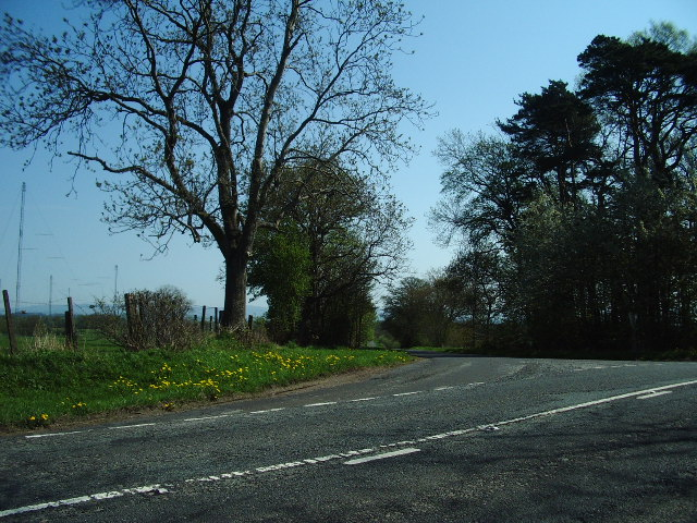 The junction of the road to Hutton End and the B5305