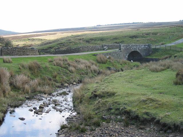 Espy Sike and bridge below Harwood Shield