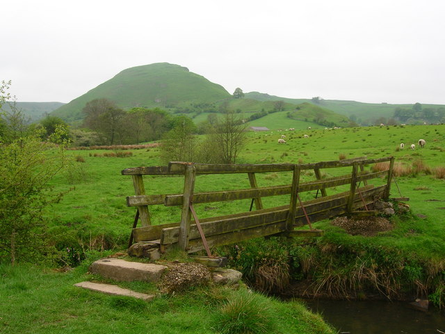 Footbridge in the shadow of Chrome Hill