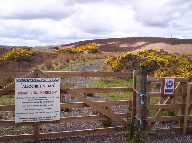 Sign at Entrance to Allochie Lochan