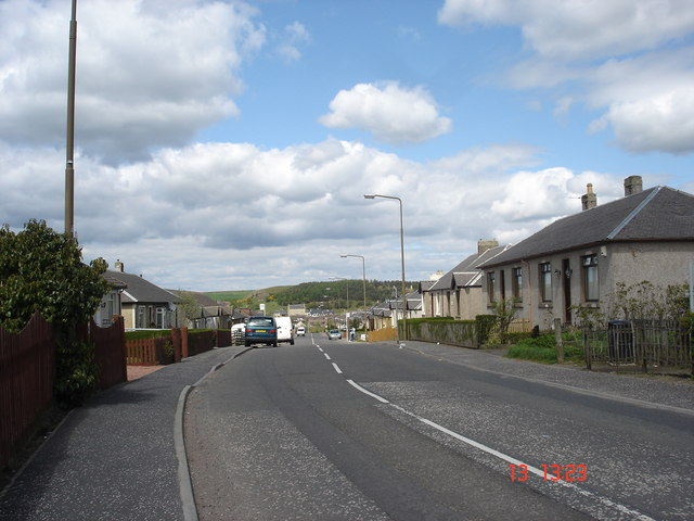 View North from crossroads at Westcraigs looking towards Blackridge