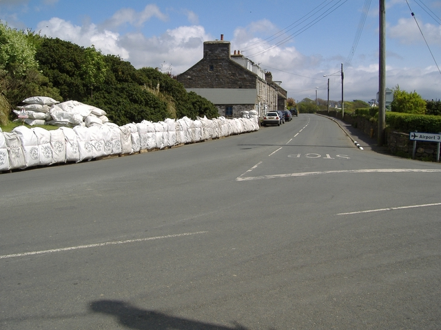 Ballabeg corner, looking down the A 7