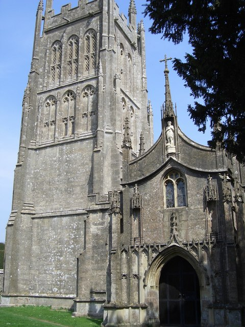 The Church at Mells, in the graveyard are many known graves, Asquith, Bonham-Carter, Knox and Sassoon