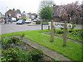 TL0718 : Slip End: Village Sign & Village Hall by Nigel Cox