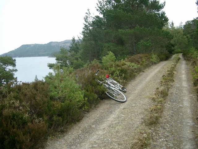 The track on the south side of Loch Beinn a Mheadhoin