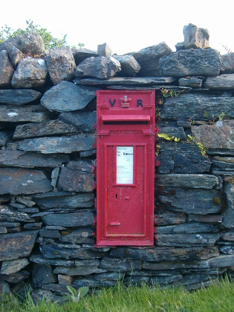 Victorian postbox on the Isle of Luing
