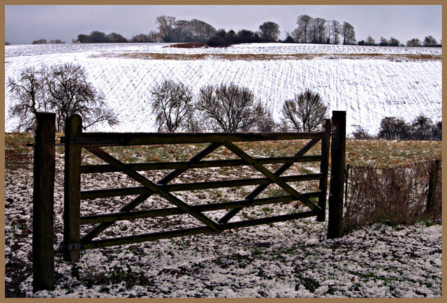 Winter landscape at Offley