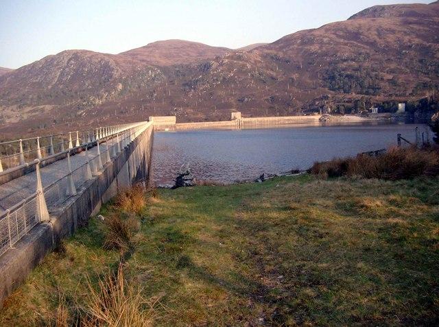 The Mullardoch dam