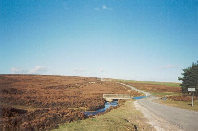 Wheeldale footbridge and moorland