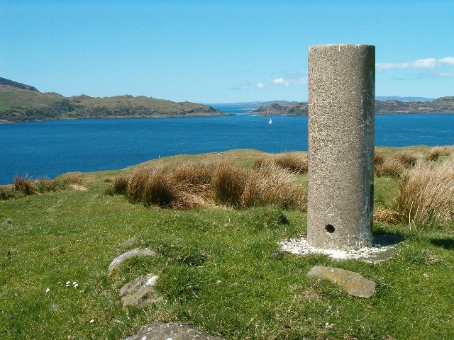 Triangulation pillar at Aird Luing