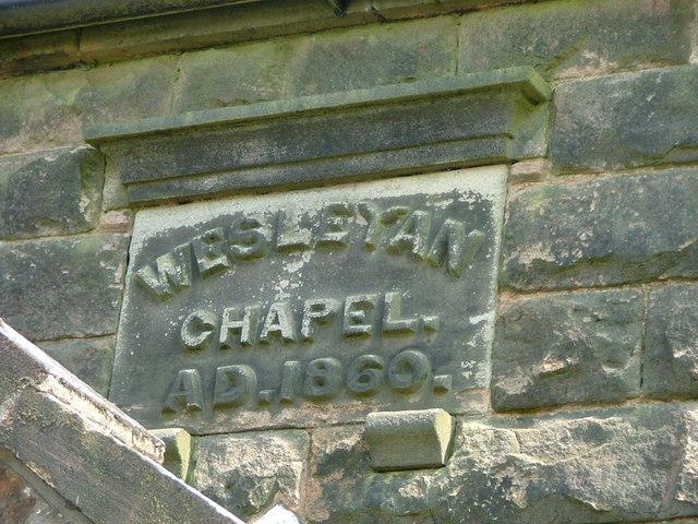 Date stone of Biddulph Park Chapel