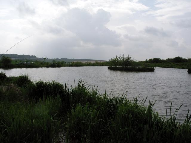 Fishing lake at Sparsholt College