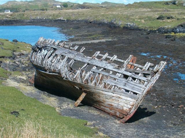 Wreck near Fladda