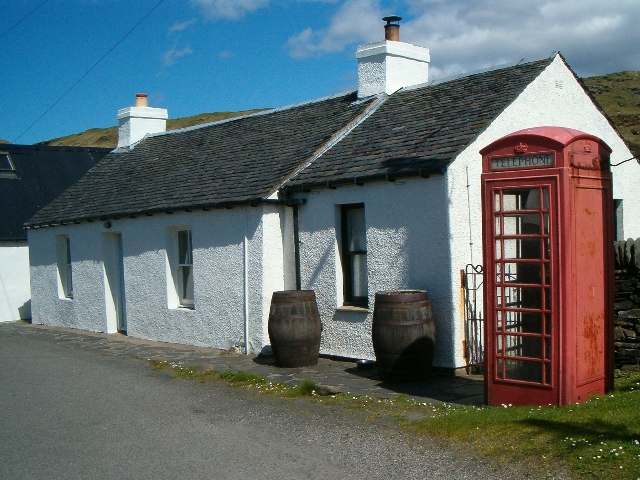 Telephone box at Cullipool