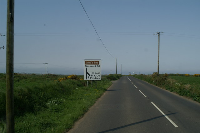 Junction of the B3306 with the A30