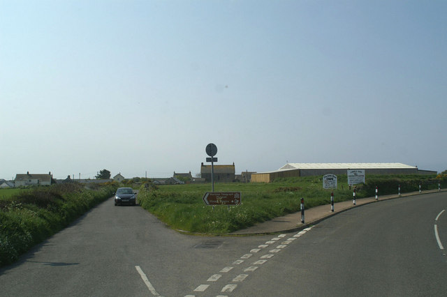 Last road junction in England