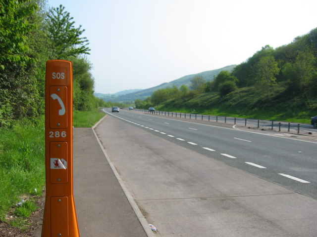 Lay-by on the A449 between Newport and Usk