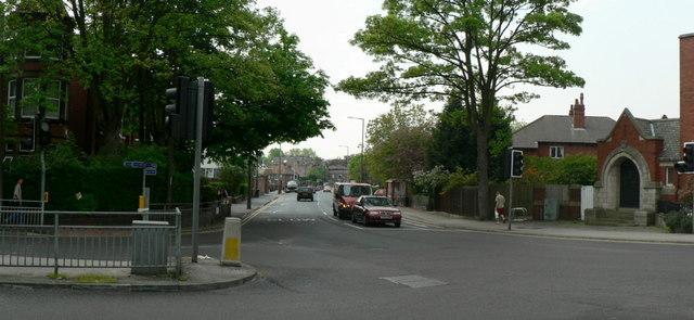 Junction of Cardigan Road and Kirkstall Lane, Headingley