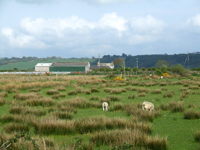 Farmland alongside the A4080 road
