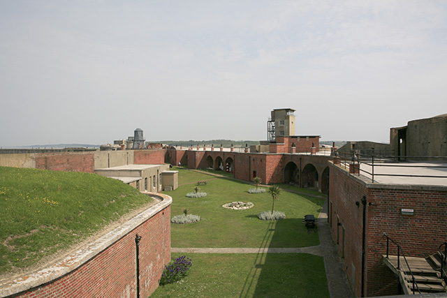 Hurst Castle interior, seen from western end