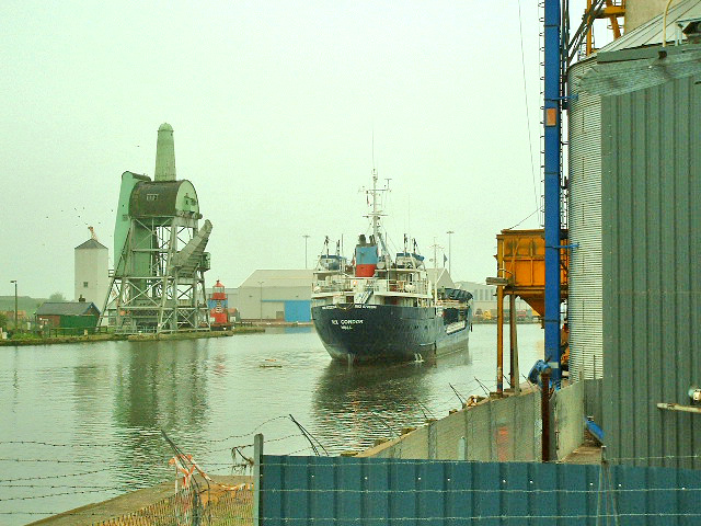 Goole Docks.The Rix Condor Oil Tanker Proceeding to her Berth