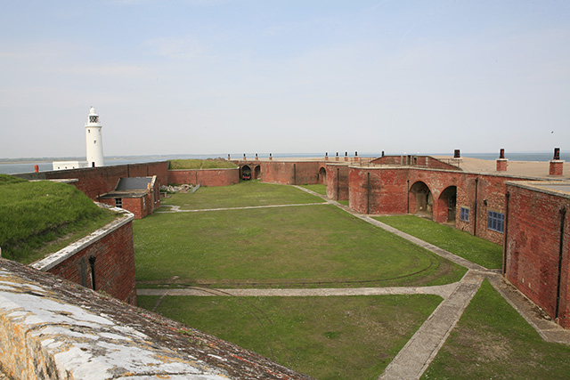 Hurst Castle interior, eastern end