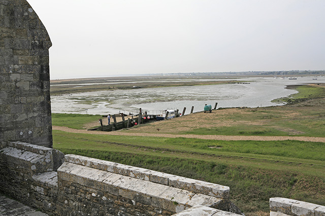 Jetty for the ferry at Hurst Castle