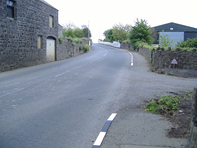 A7 road at Billown farm