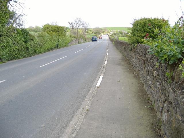 A 7 road heading East, just past Billown farm