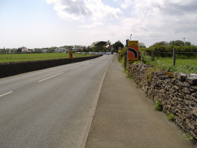Approaching Stadium Corner on the A 3 road