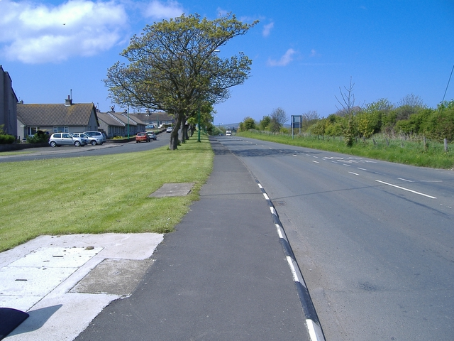 The A 5 road just after Alexandra bridge