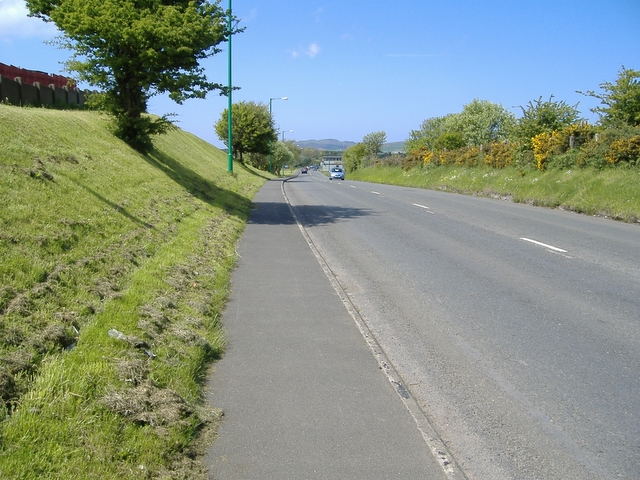 The A 5 road, approaching the start / finish line