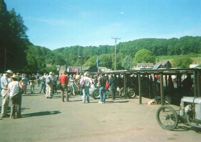 The paddock at Shelsley Walsh hillclimb