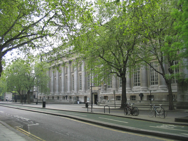 The back of the British Museum