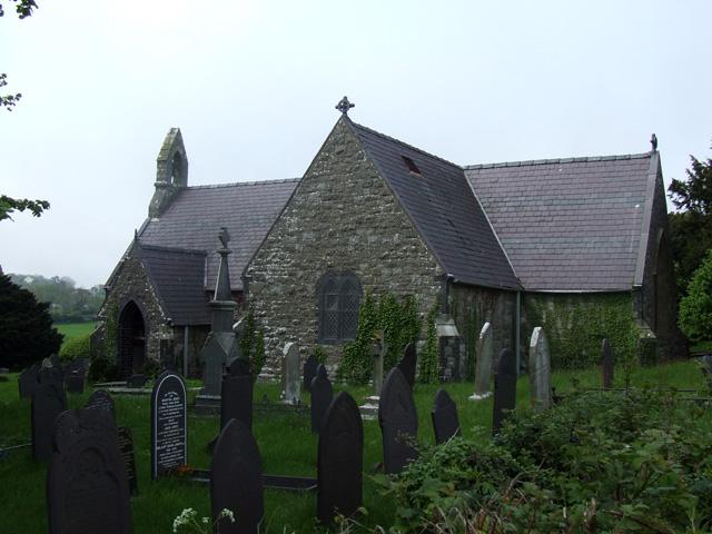 St Cawrdaf Church in Llangoed