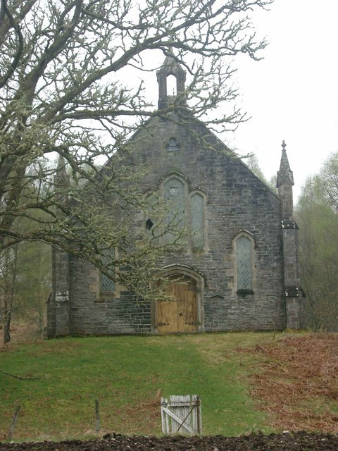 Derelict church at Fasnakyle