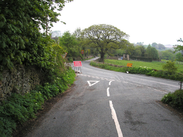 Road junction, Cononley Woodside, Yorkshire