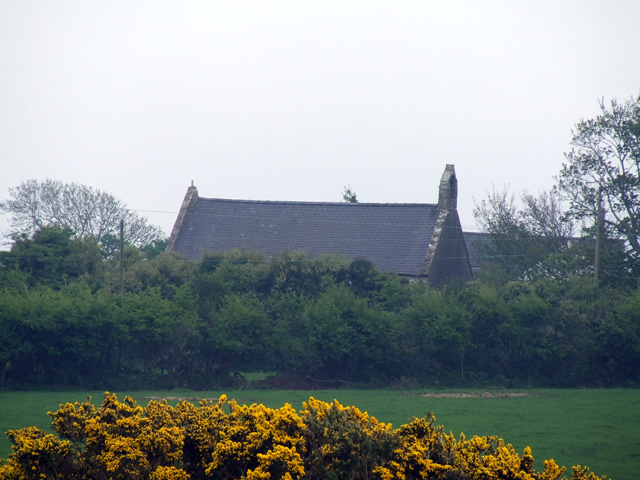 The church at Llaniestyn