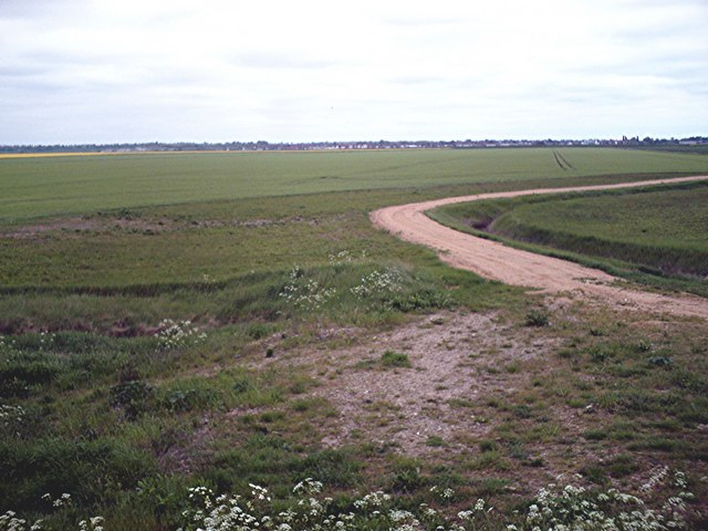 Farm track from seawall